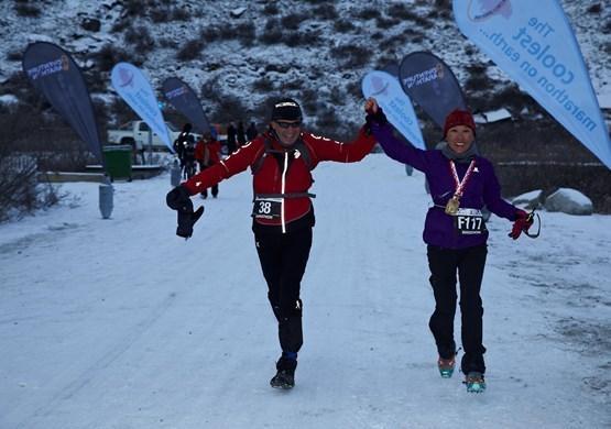 Proud Polar Circle Marathon Runners. By Visit Greenland