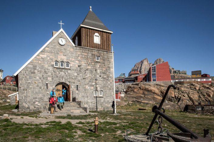 The church in Uummannaq in Greenland. Photo by Mads Pihl.