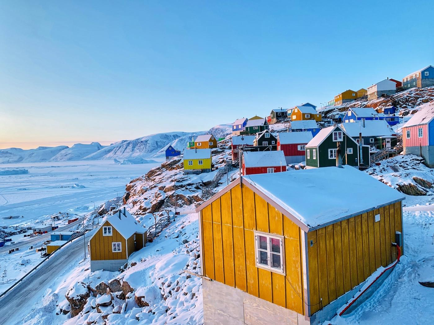 View over Uummannaq. Photo by Greenland Fiord Tours