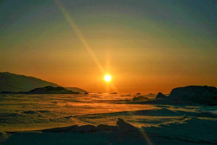 Sunset Uummannaq Fjord Tours