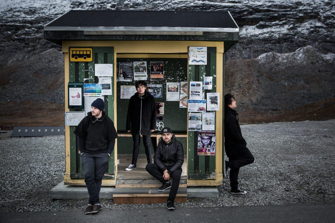 Small Time Giants waiting for the bus in Qinngorput in Nuuk. Photo by Mads Pihl