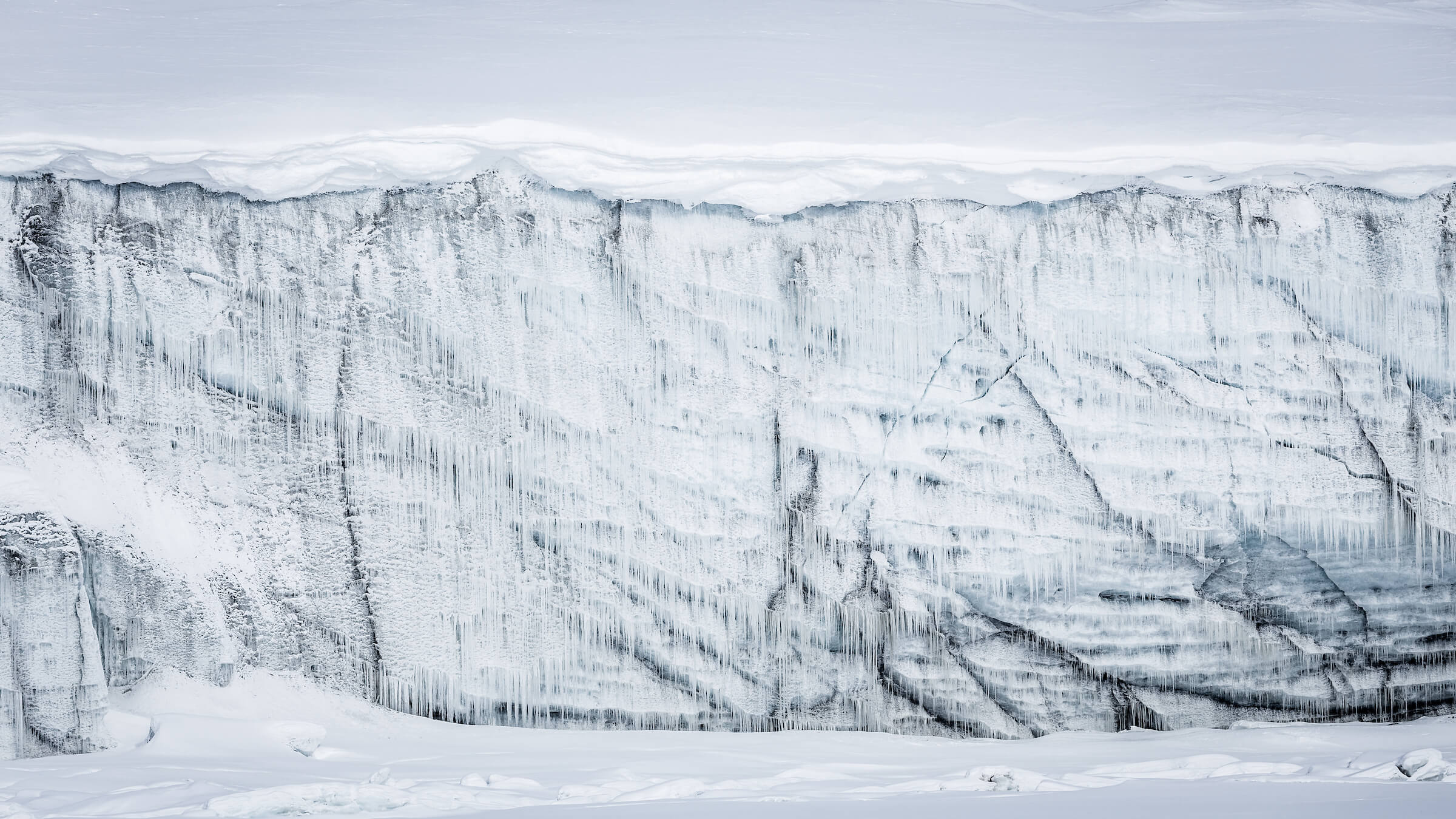 Even an iceberg itself can grow icesicles. Photo by Samuel Letecheur