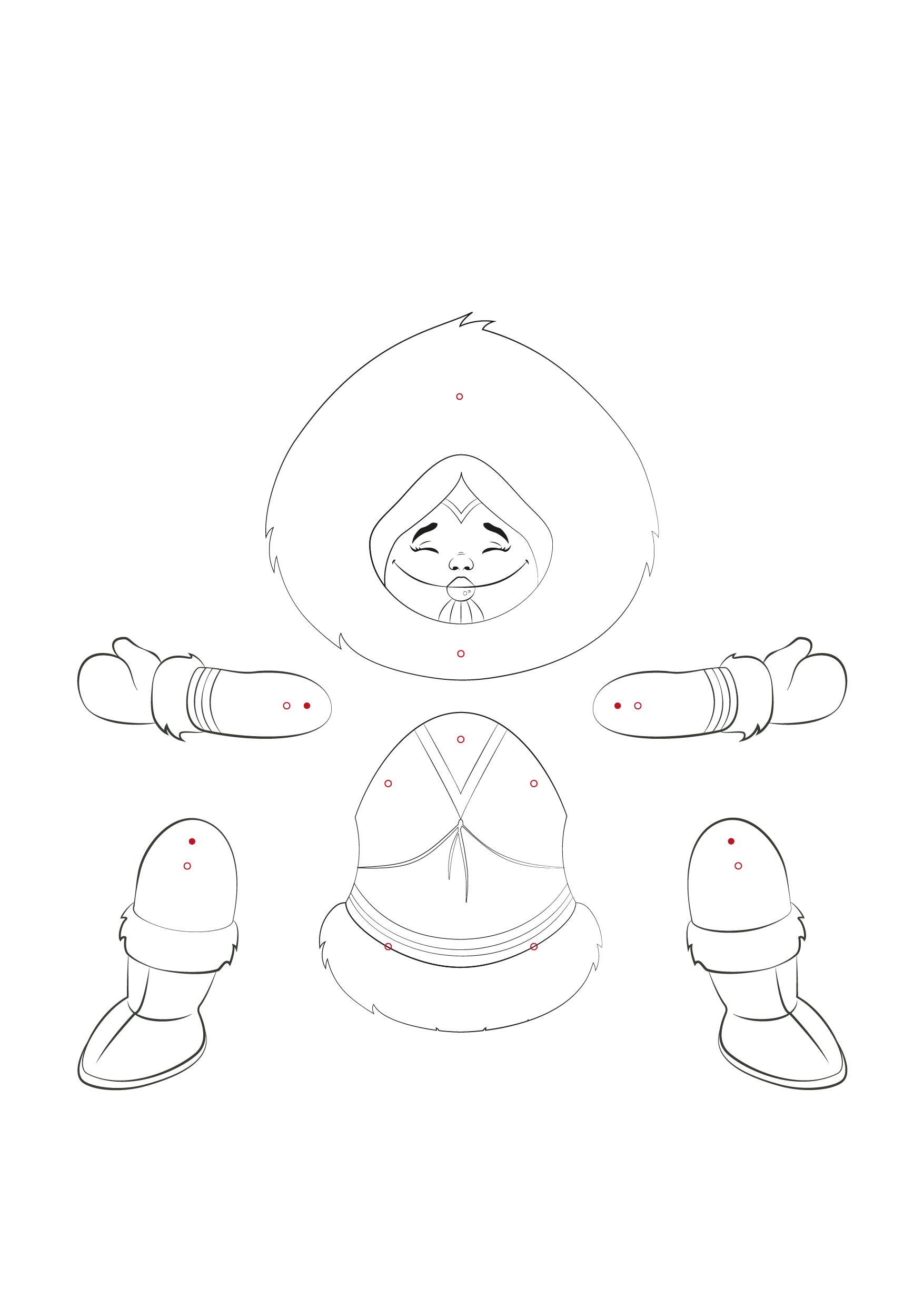 Download A Pdf Of This Inuk Boy Template