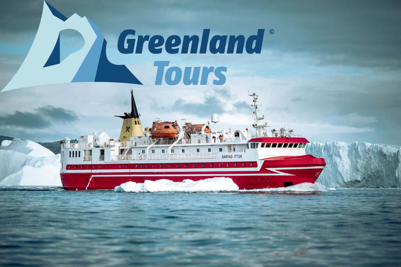 Coastal Ship - South & West-Greenland_s_passenger_ferry_Sarfaq_Ittuk_among_icebergs_in_the_Disko_Bay_near_Ilulissat_logo
