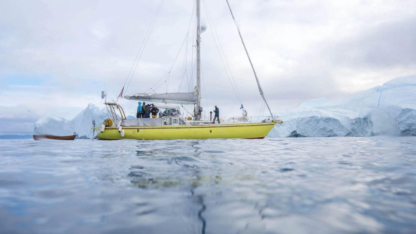 Breskell on arrival at the Ilulissat icefjord