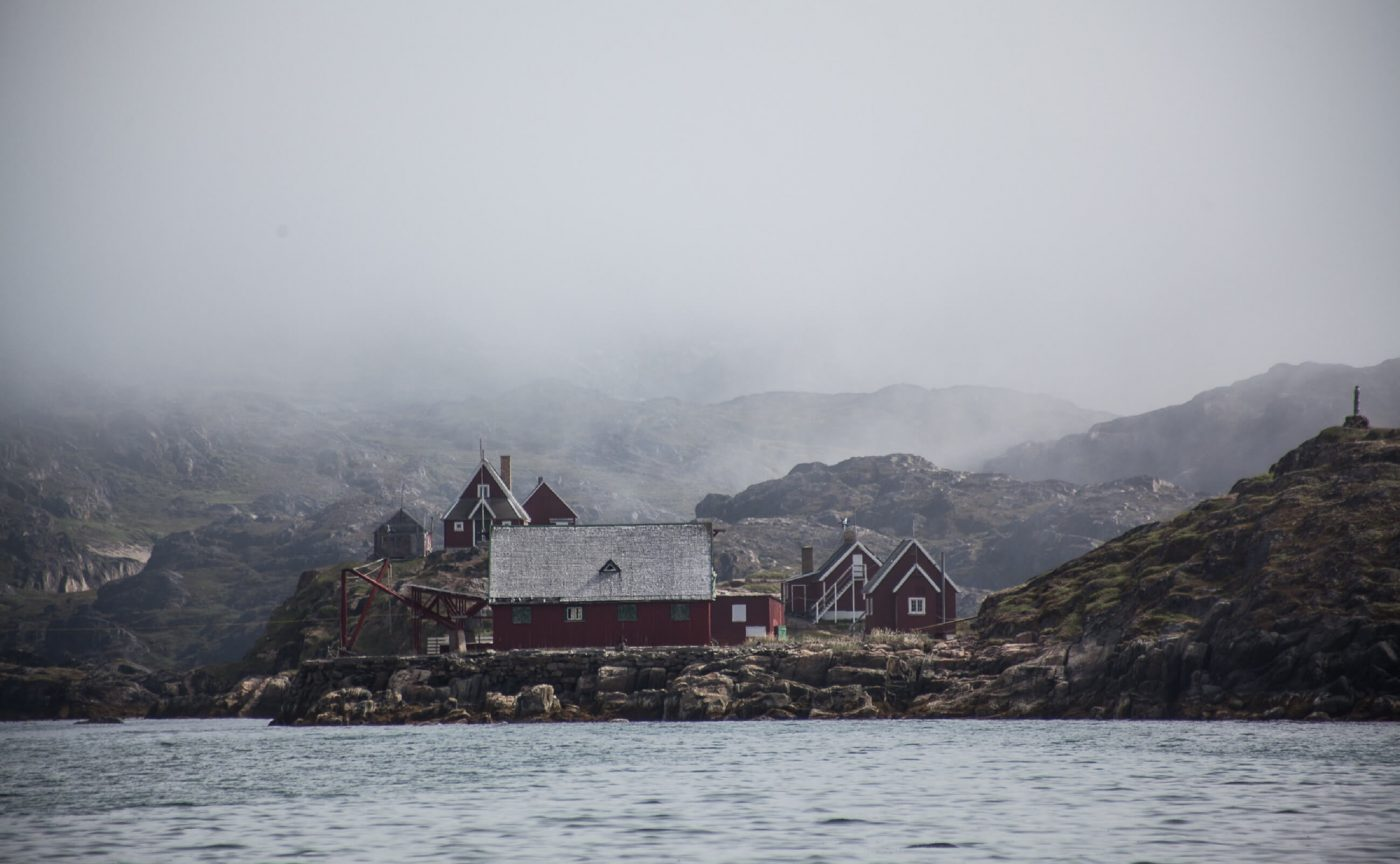 Town of Sisimiut during fog. Photo by Olafur Rafnar Olafsson