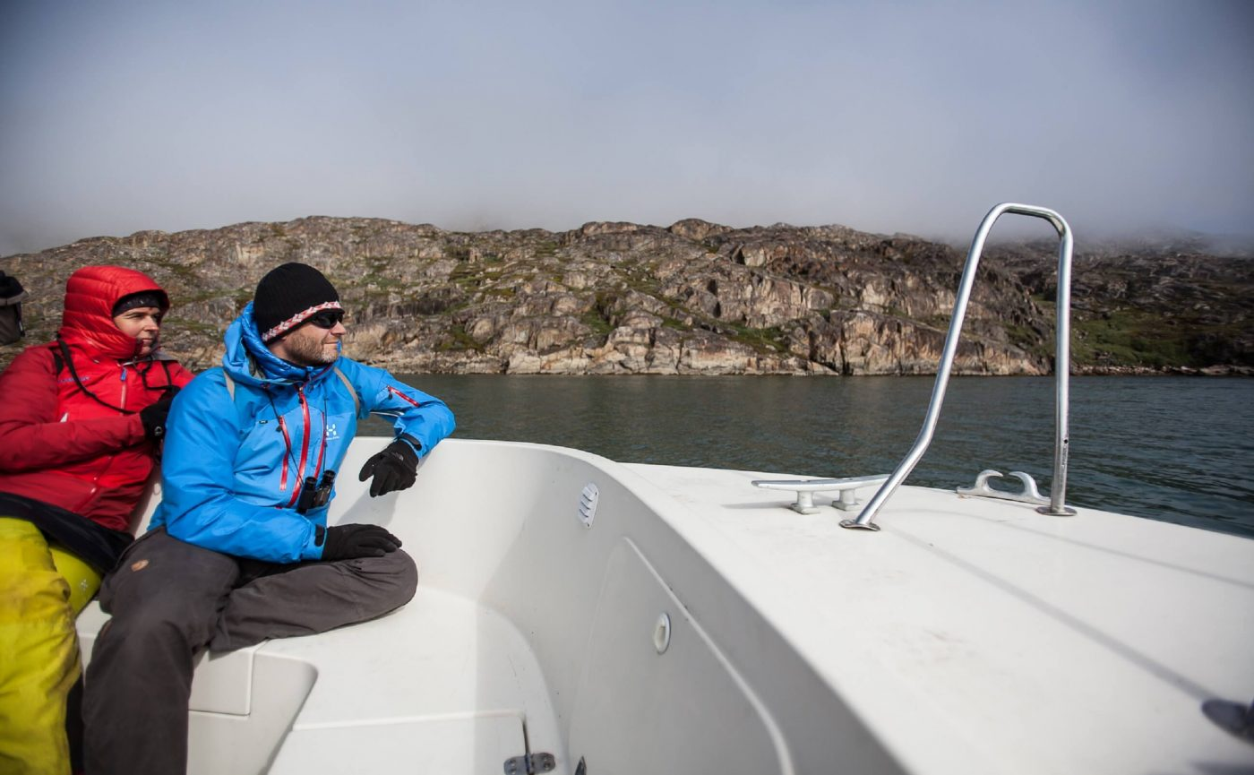 Married couple out, sailing in Sisimiut. Photo by Olafur Rafnar Olafsson