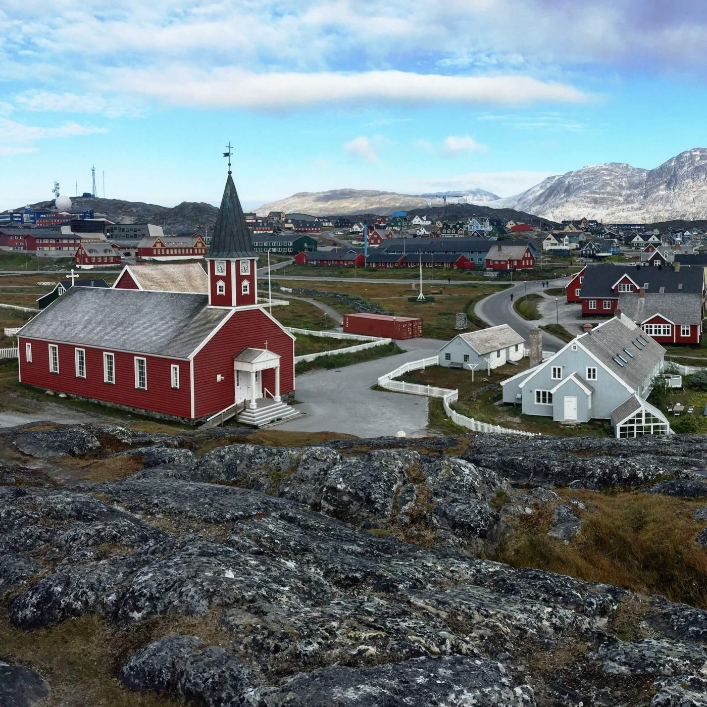 The church in Nuuk. Photo by Leslie Carter