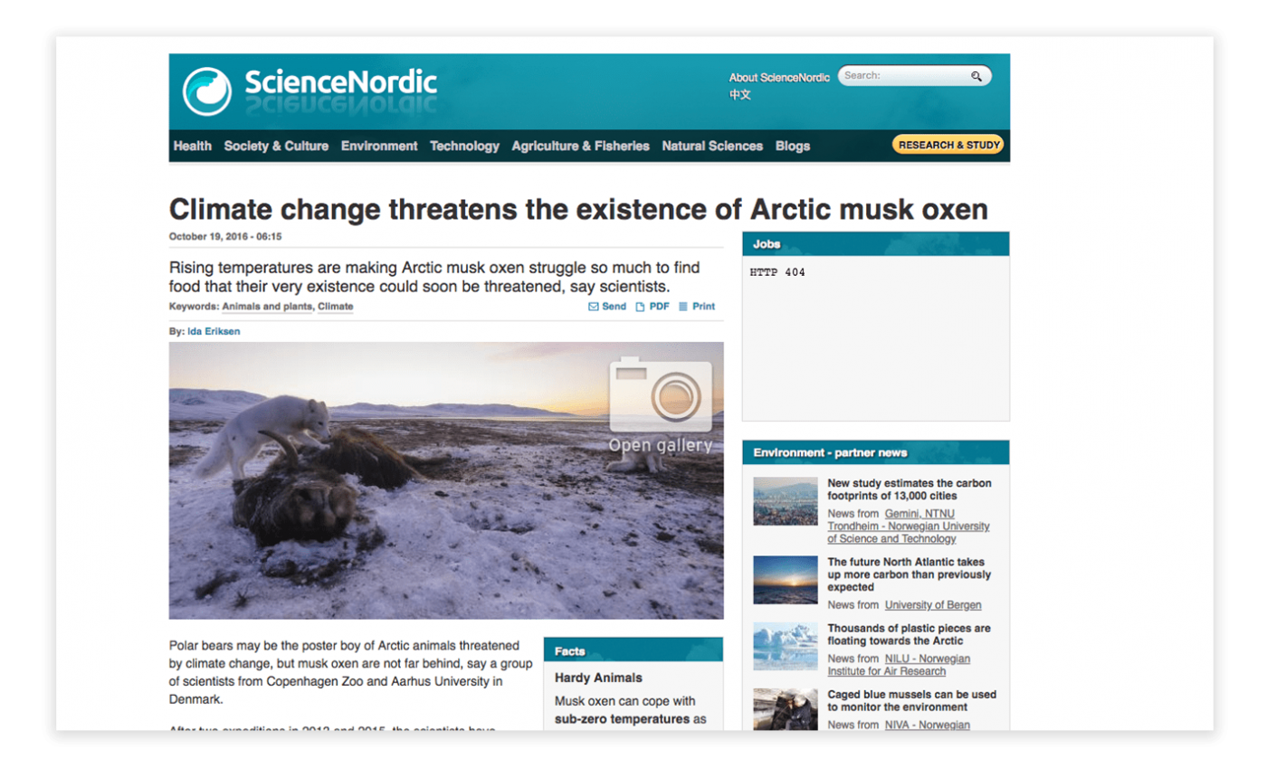 The Guide to Climate Change in Greenland - tools and information