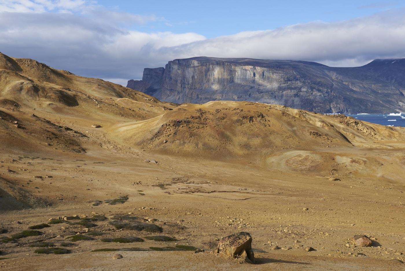 Metamorphic rocks on the island of Salliaruseq (Storøen), locally known as _the desert_, near Uummannaq, central west Greenland. Photo by Vagn Hansen