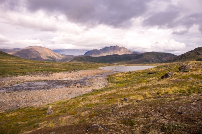 Stony river leading to Innajuattoq II Hut - Day 5 of Arctic Circle Trail. Photo by Lisa Germany.