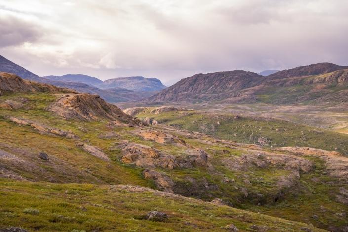 View of Iluliumanersuup Portornga ridge - Day 5 of Arctic Circle Trail. Photo by Lisa Germany.