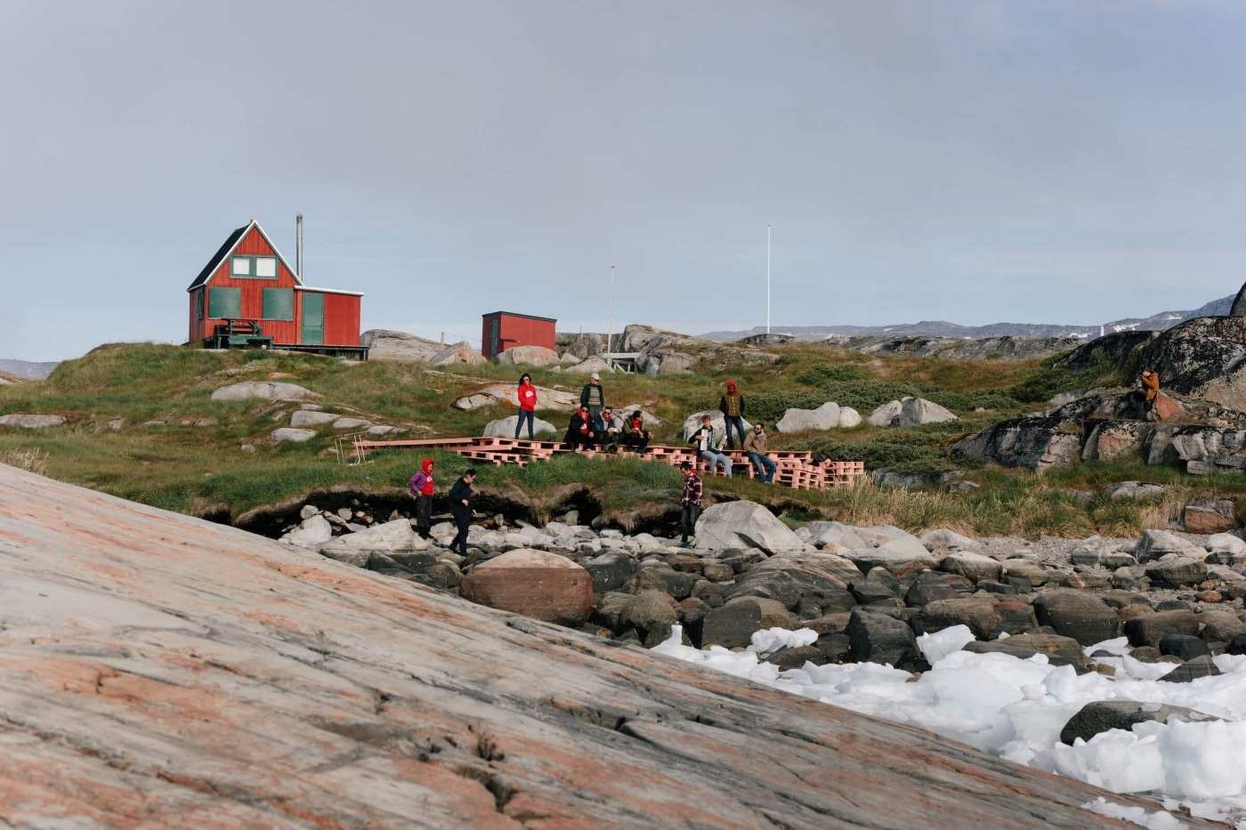 Artists jam on stage ahead of the festival. Photo by Jessie Brinkman Evans - Visit Greenland