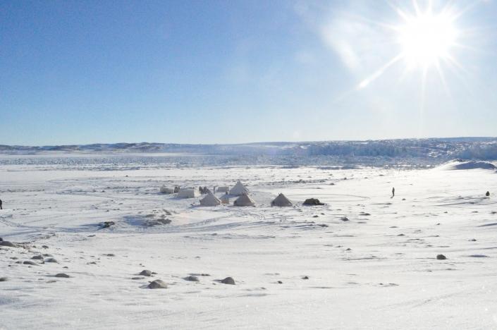 Glacier camp setup in Greenland. Photo by Diskobay Tours
