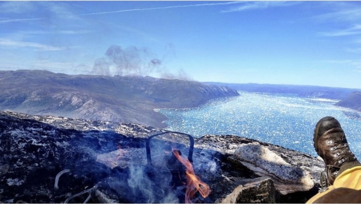 High up in the mountains in Greenland. Relaxing by the fireplace. Photo by Two Ravens, Visit Greenland.