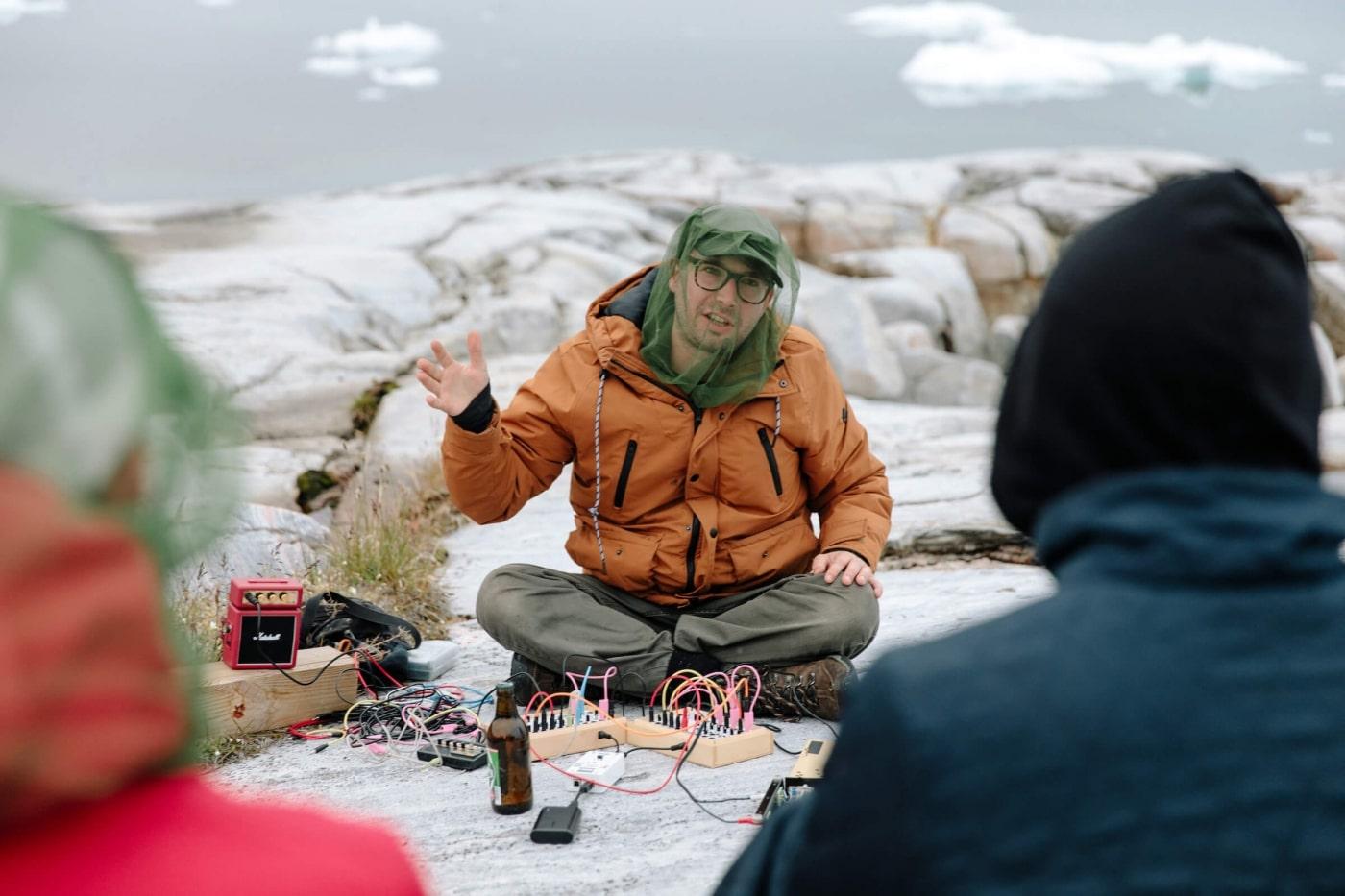 Woutr von Jaspers during his performance. Photo by Jessie Brinkman Evans - Visit Greenland