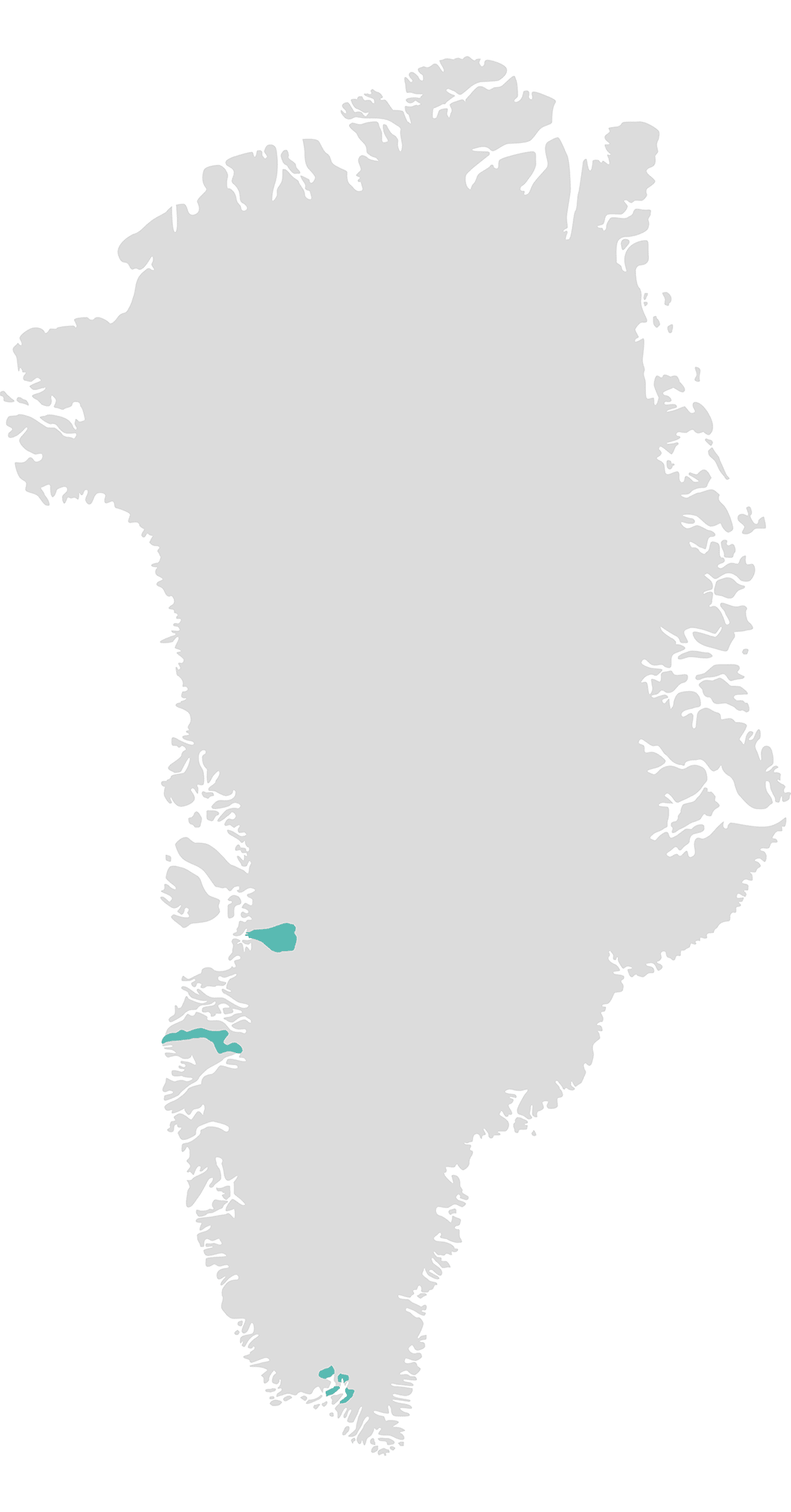 Greenland map destinations unesco sites
