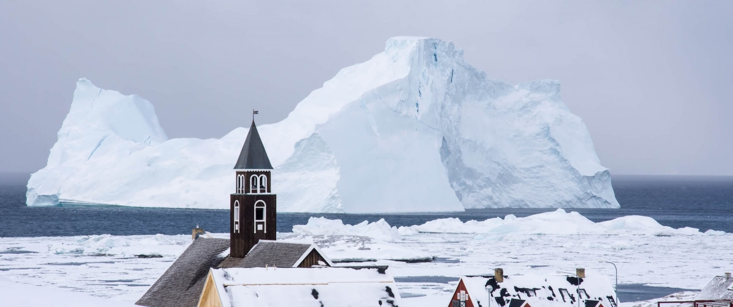 Zions church in Ilulissat. Photo by Inesa Matuliauskaite