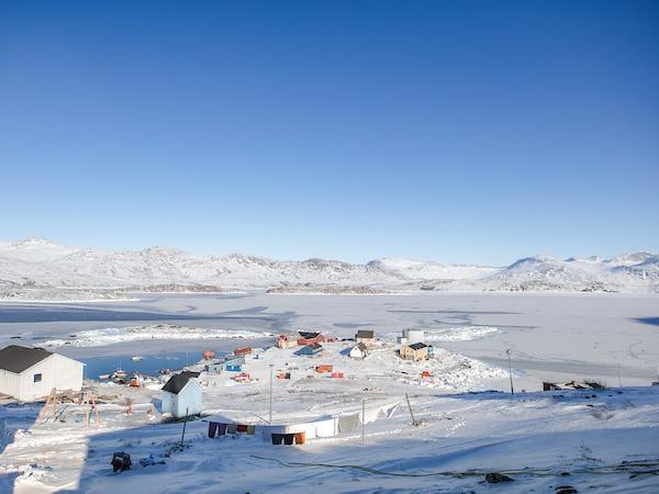 Frozen fjord in Kapisillit