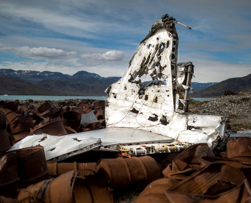 Parts of an old plane from the American air base in Narsarsuaq. Photo by Mads Pihl - Visit Greenland