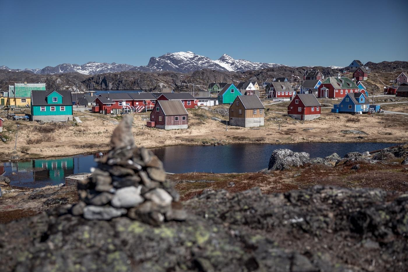 Qeqertarsuatsiaat is a village south of Nuuk in Greenland. Photo by Mads Pihl - Visit Greenland