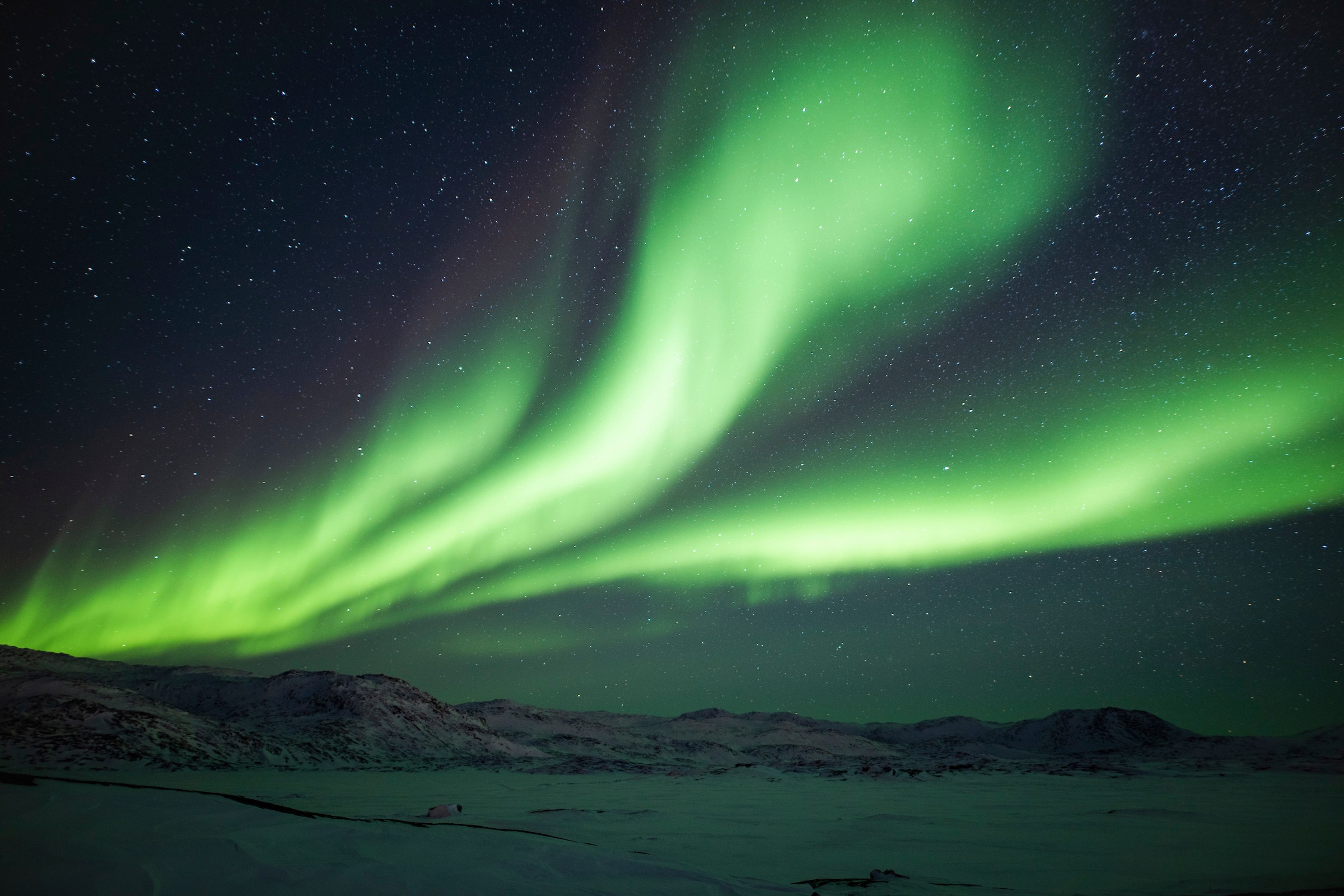 The Northern Light. Photo by Aningaaq R Carlsen - Visit Greenland