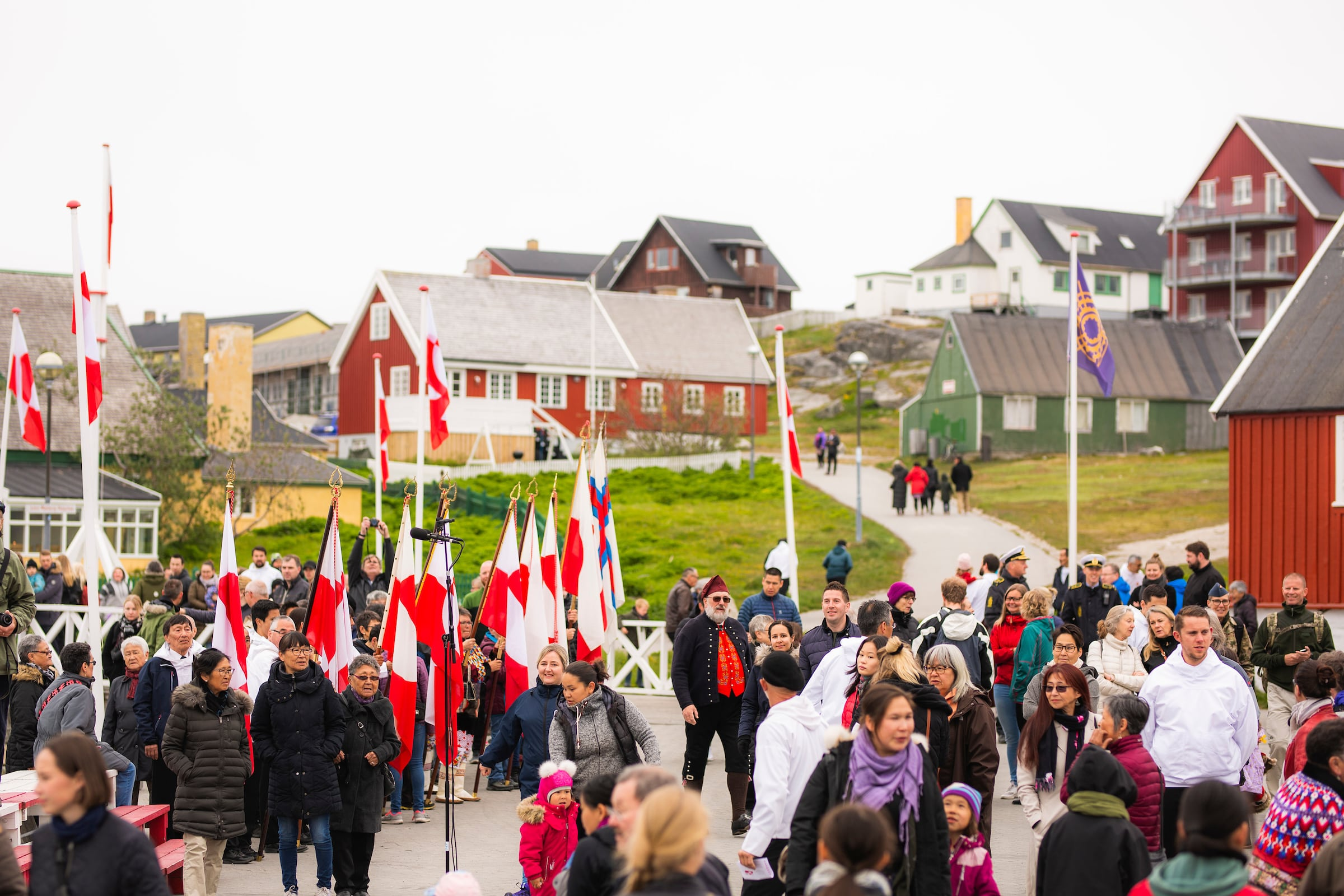 National Day Gathering By The Old Harbour. Photo by Aningaaq R Carlsen - Visit Greenland