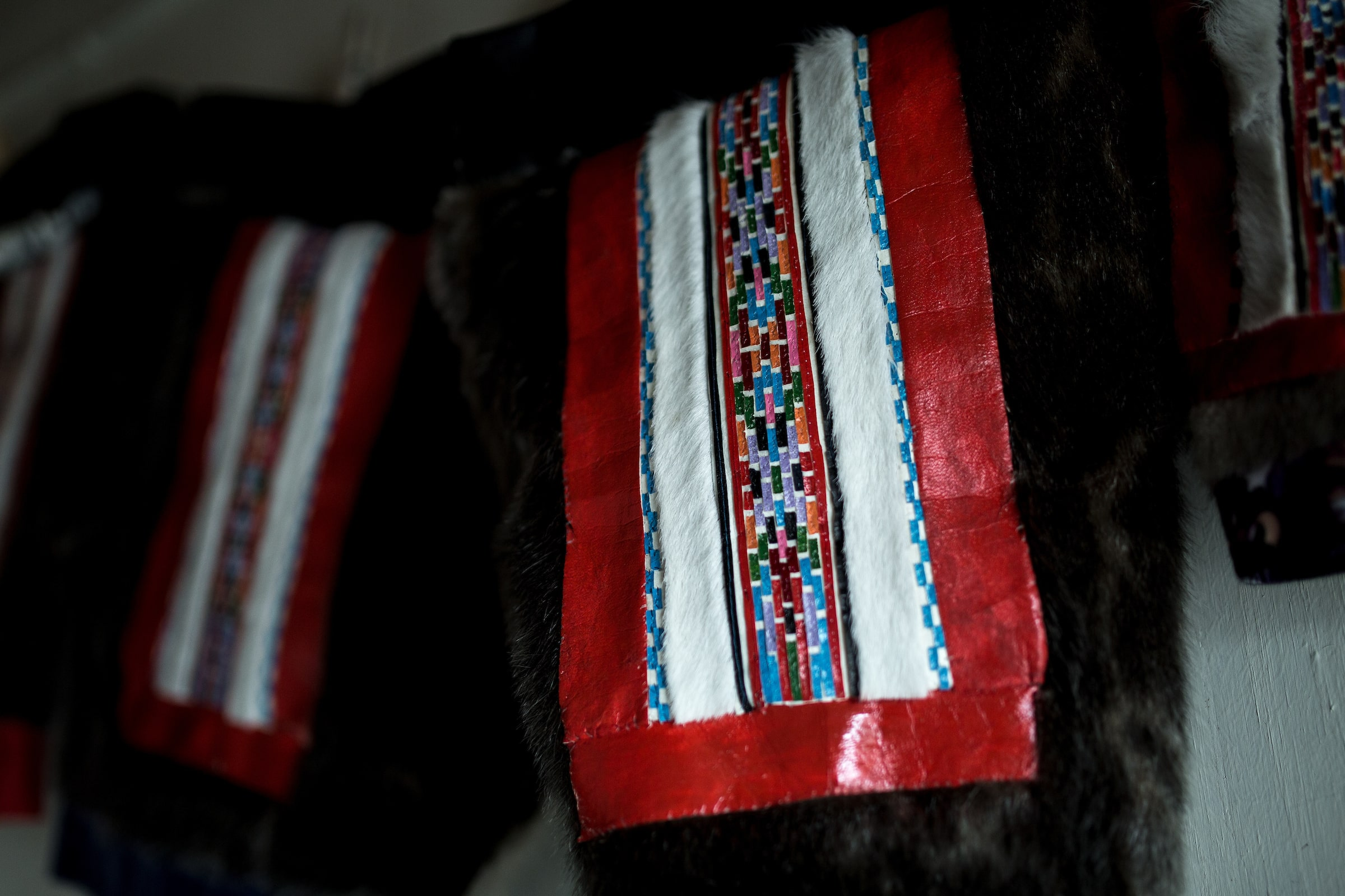 Parts of a national costume on display in Itilleq in Greenland. Photo by Mads Pihl - Visit Greenland