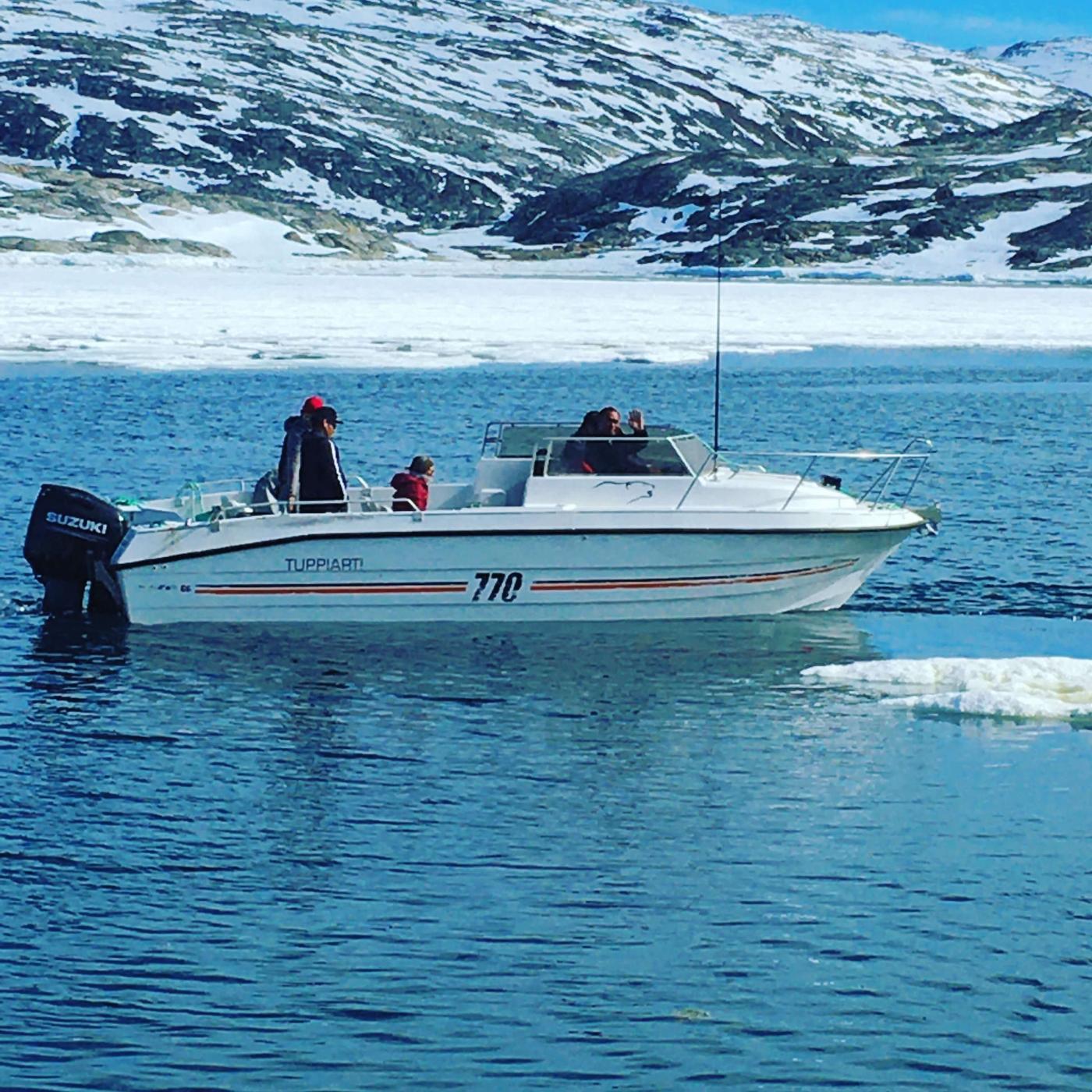 Our tour boat Tuppiati (greenlandic for Tobias). Photo by Line Kristiansen