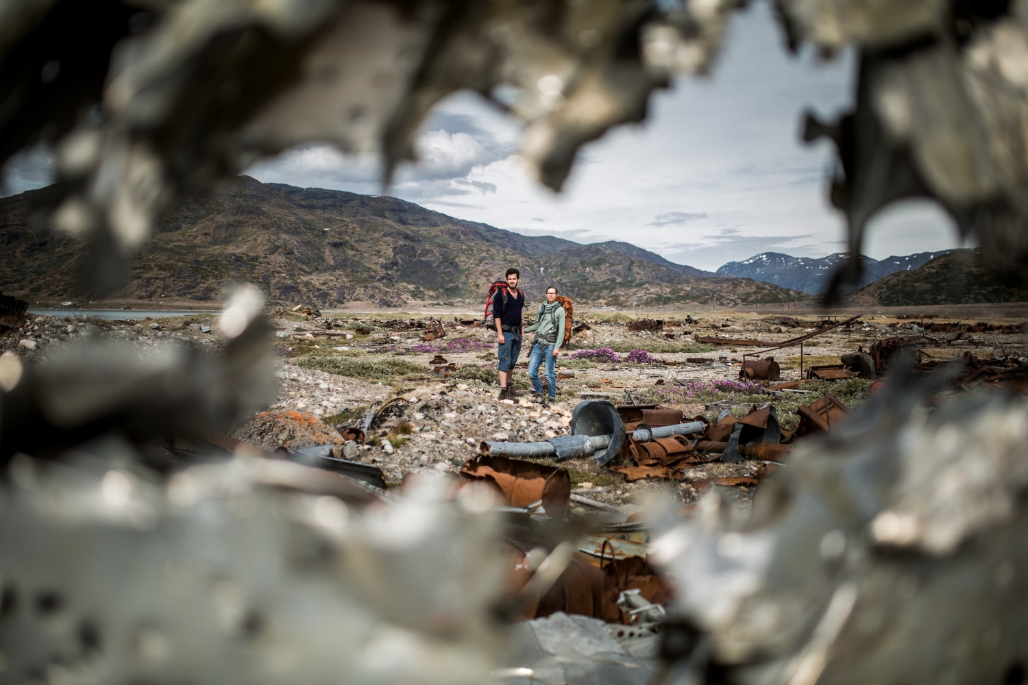 Exploring the remnants of the American air base in Narsarsuaq. Photo by Mads Pihl - Visit Greenland