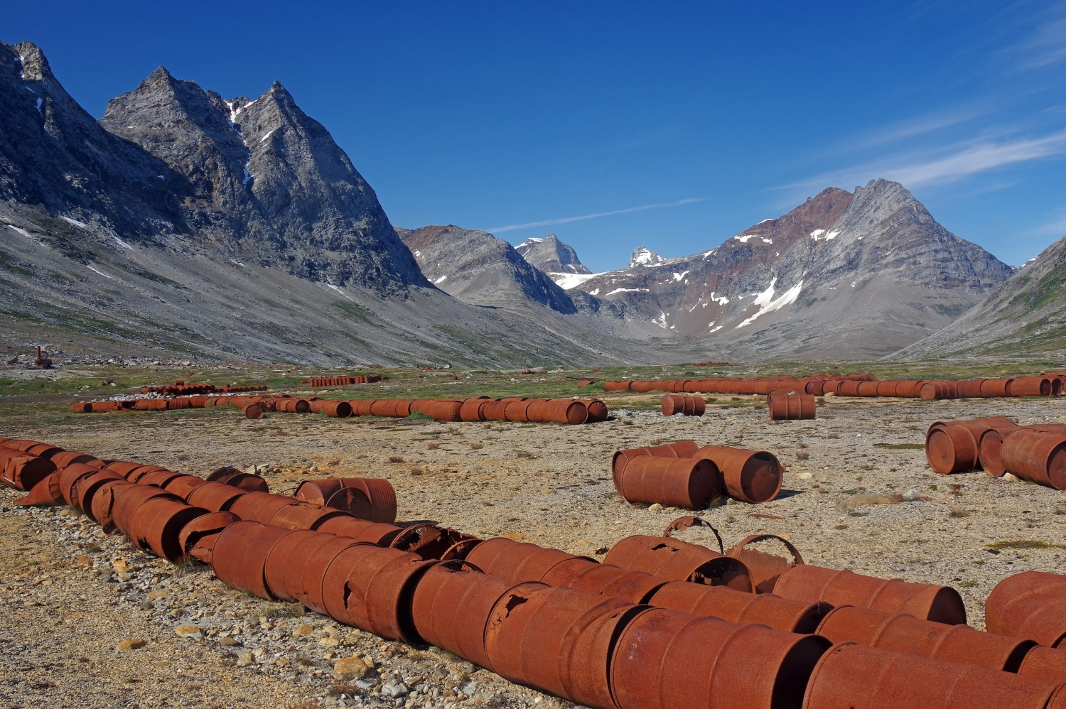 Remains of American WW2 base Bluie East Two at Ikateq, East Greenland. Photo by Reinhard Pantke - Visit Greenland