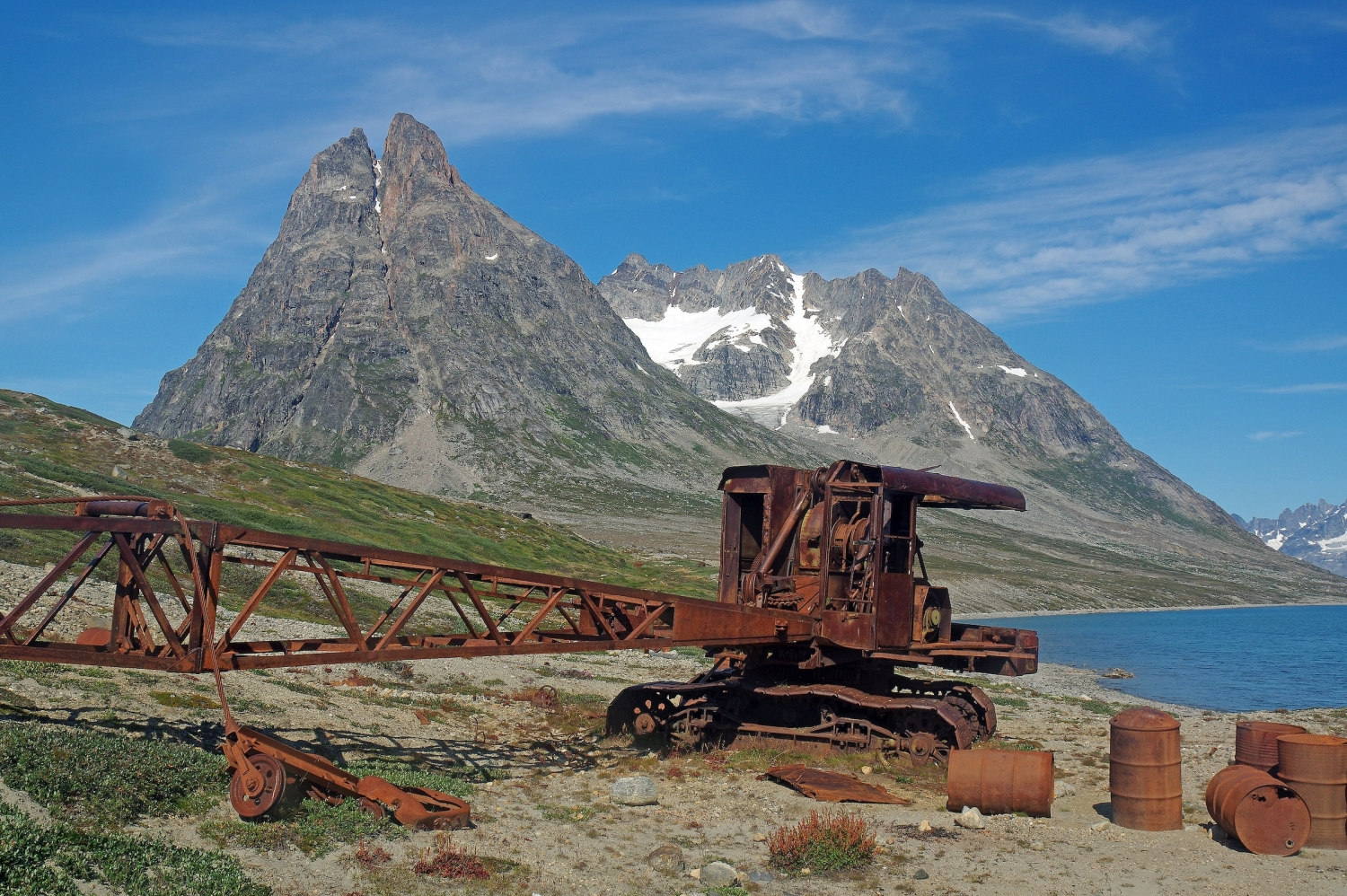 Rusted vehicle at remains of American WW2 base Bluie East Two at Ikateq, East Greenland. Photo by Reinhard Pantke - Visit Greenland