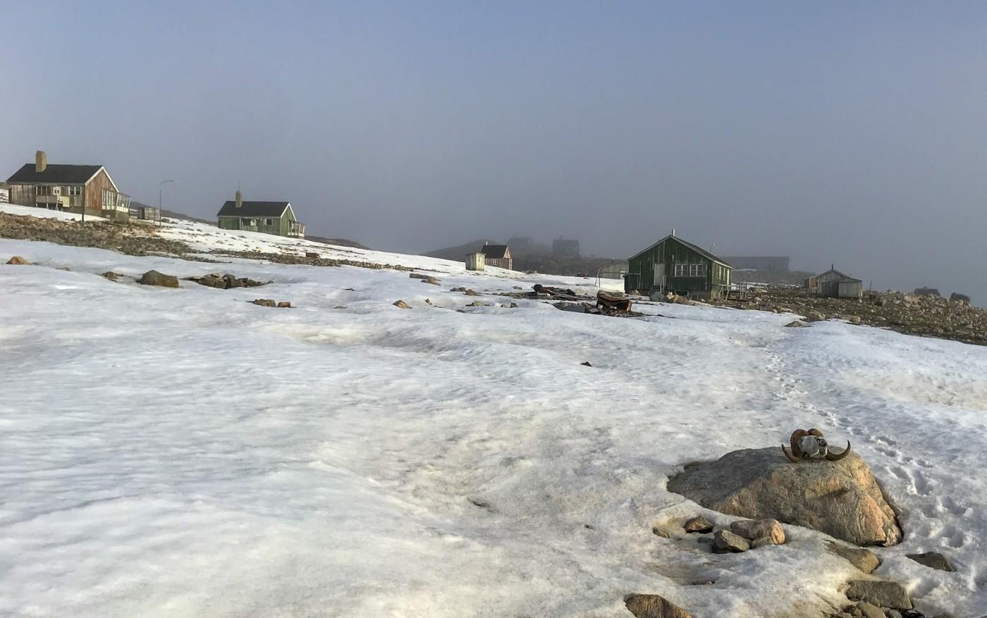 Abandoned settlement of Cape Tobin. Photo by Bo Normander.
