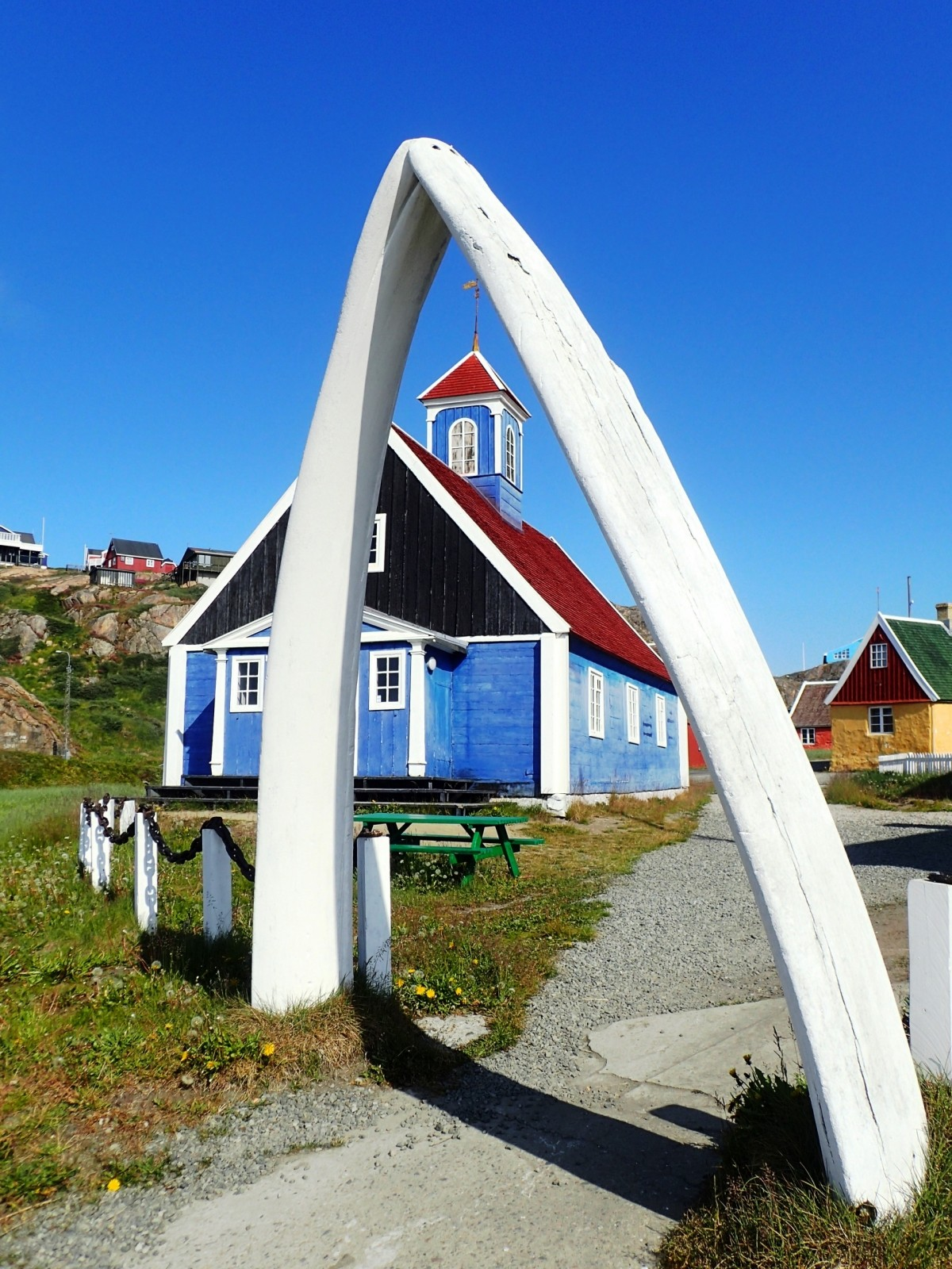 Old Church and Whale Jaw Bones. Photo by Allan Liddle
