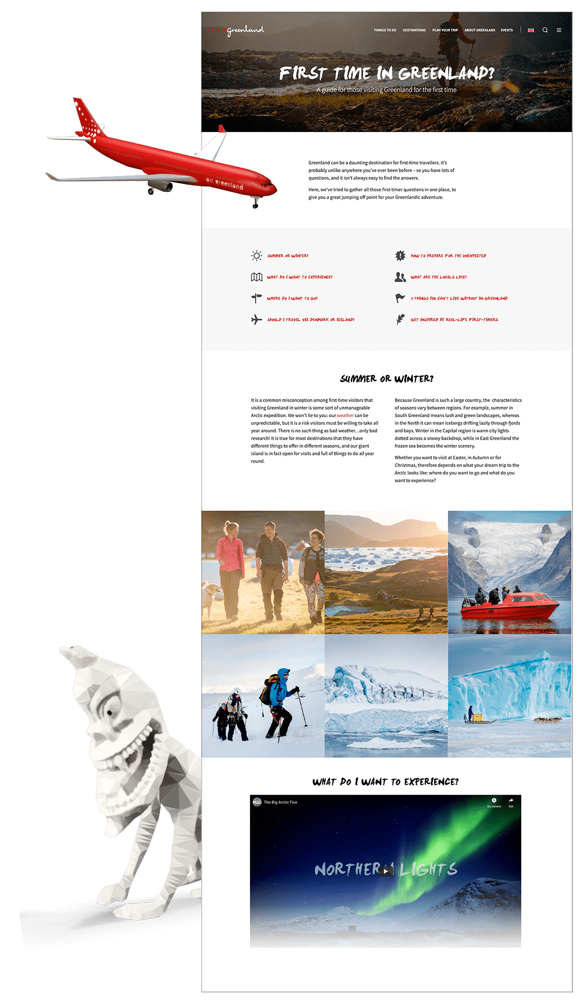 First time in Greenland? Graphic by Filip Gielda - Visit Greenland