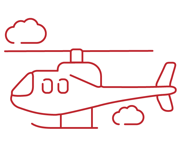 helicopter icon red