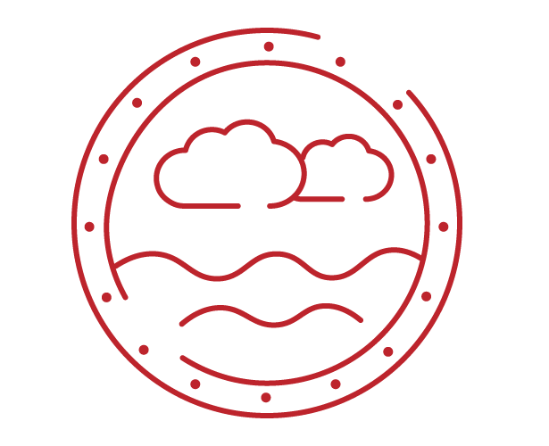 high sea icon red