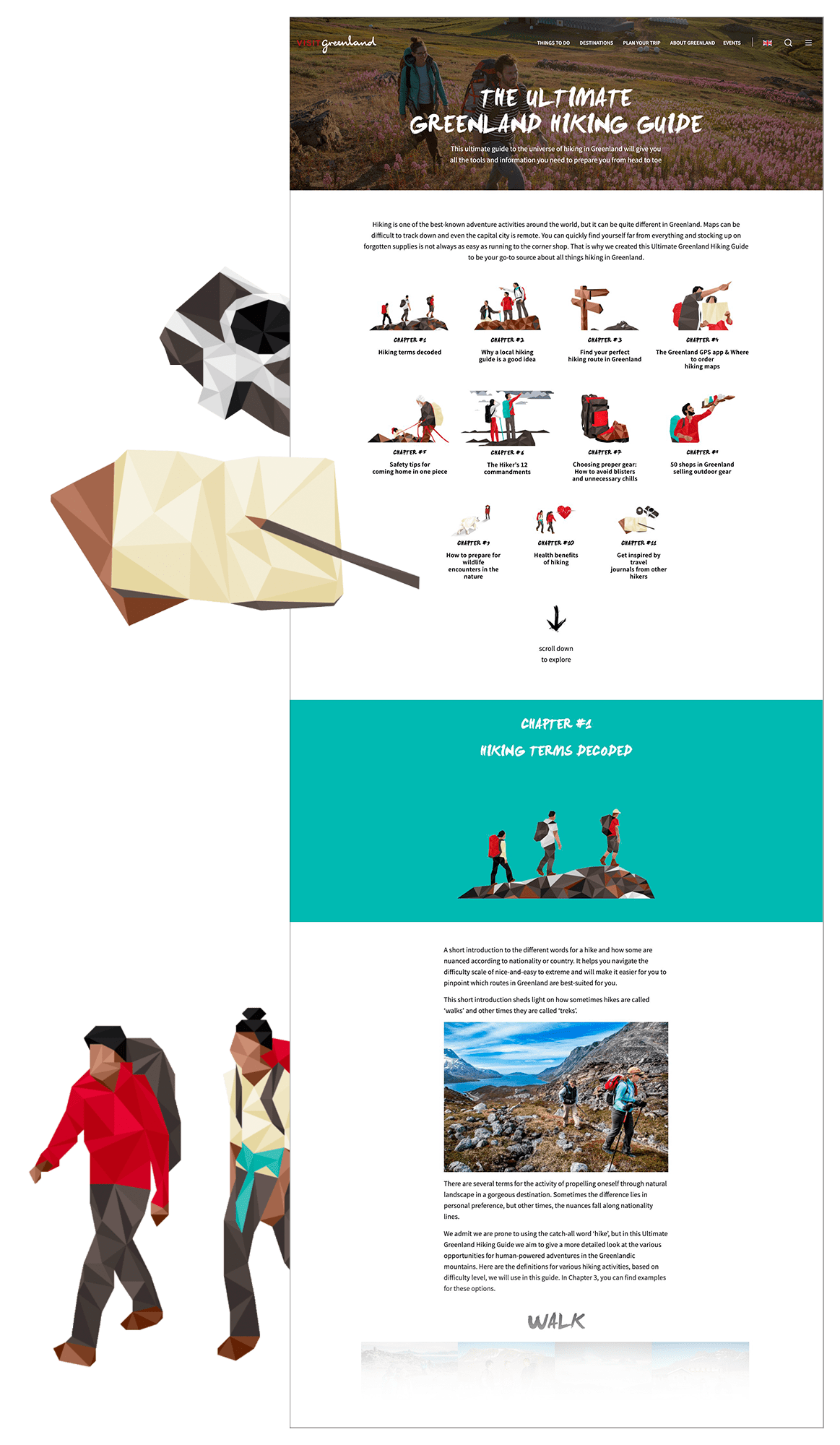 The Ultimate Guide to Hiking in Greenland. Graphic by Filip Gielda - Visit Greenland