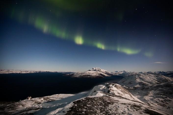 Mountain Night View. Photo by Matthew Littlewood - Visit Greenland