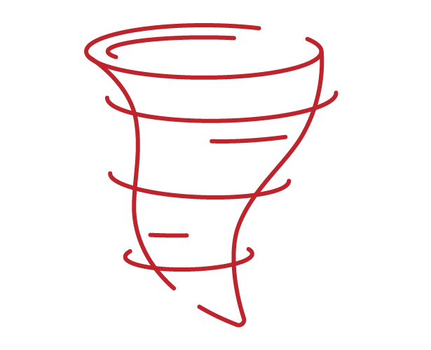 tornado winds icon red