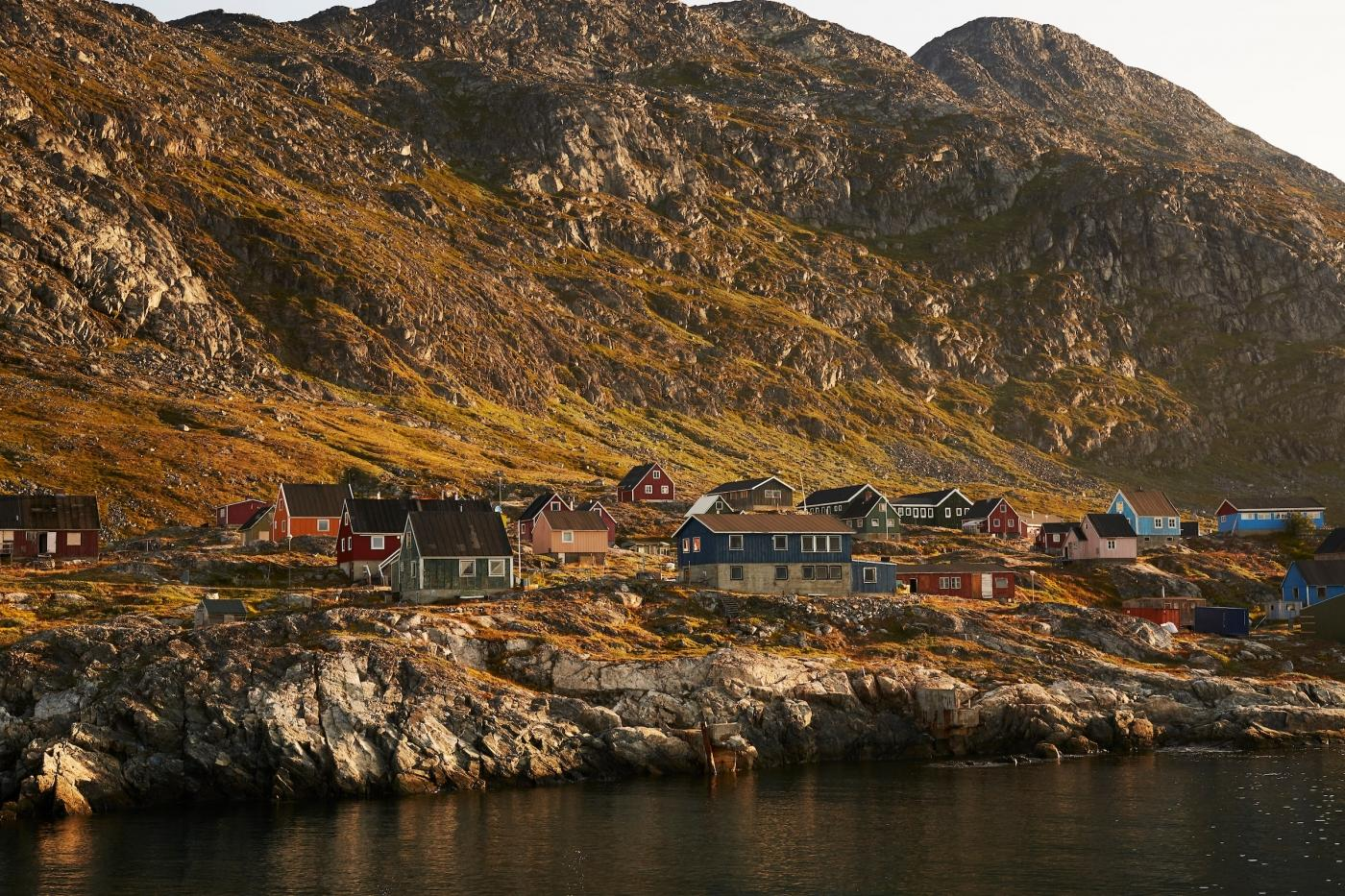 colourful houses on Arsuk Coast. Photo by Peter Lindstrom - Visit Greenland