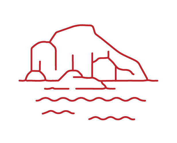 lined icon of the ice sheet