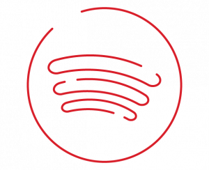 spotify icon in red