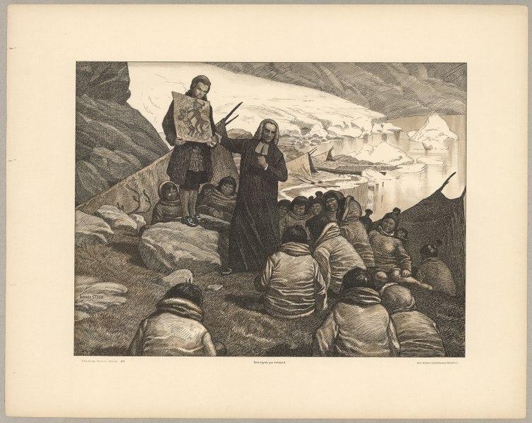 Hans Egede in Greenland by Louis Moe - Dansk Skolemuseum