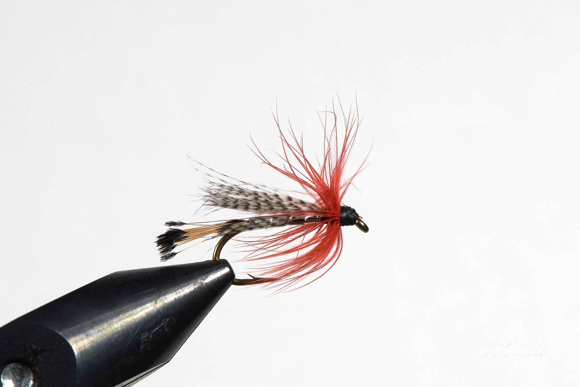 Teal Red and Silver fishy fly. Photo by Vagn Hansen - Visit Greenland