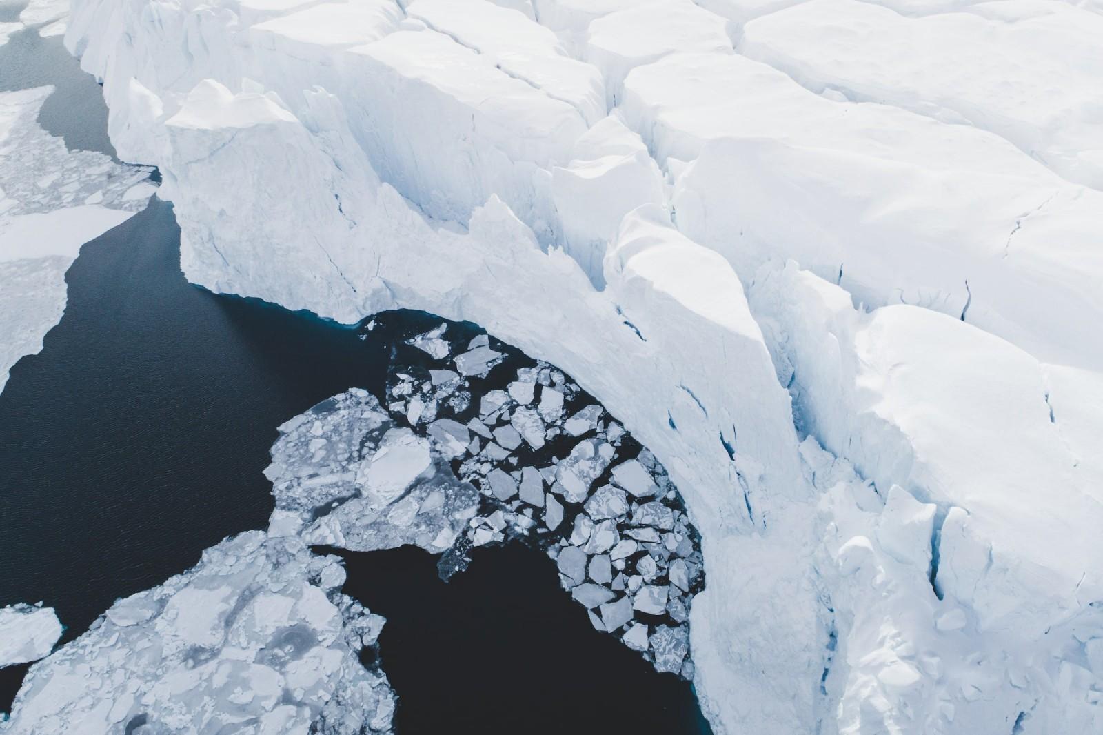 Steep Ice Wall Disko Bay. Photo - Benjamin Hardman, Visit Greenland