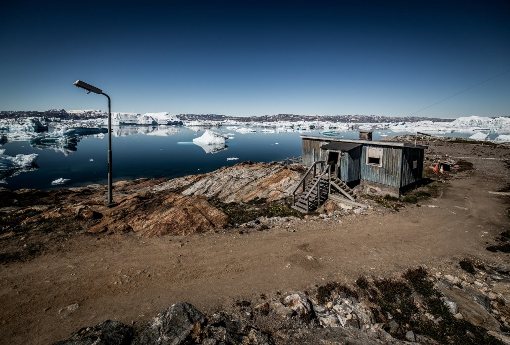 The heli stop in Tiniteqilaaq in East Greenland, and the last house on the shores of Sermilik Ice Fjord before you hit the wall of the Greenland Ice Sheet at Helheim Glacier. Photo by Mads Pihl - Visit Greenland