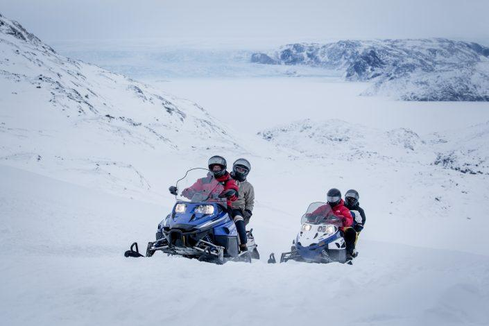 A snowmobile ride with PGI Greenland in the Ilulissat backcountry in Greenland. By Mads Pihl