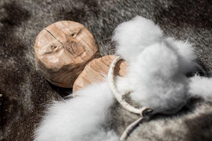 A wooden doll from Qasigiannguit Museum in Greenland. By Mads Pihl