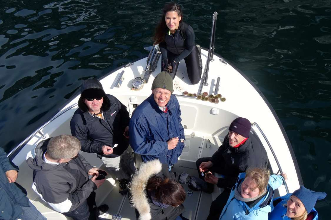 Guests on an ABC Charter tour